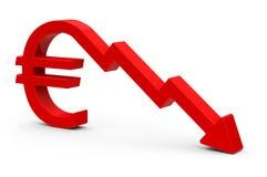 The euro crisis Royalty Free Stock Photo