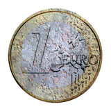 Euro Crisis. Digital Illustration of an Euro Coin Royalty Free Stock Photography