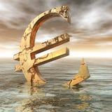 Euro Crisis. Digital Illustration of the Euro Crysis Stock Photos
