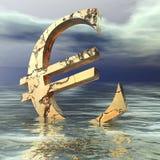 Euro Crisis. Digital Illustration of an Euro Symbol Stock Images