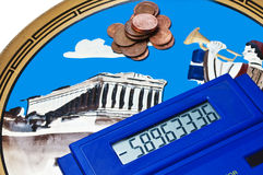 Euro crisis in Greek Royalty Free Stock Images
