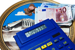 Euro crisis in Greek Royalty Free Stock Photos