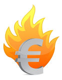Euro crisis illustration Royalty Free Stock Image