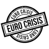 Euro Crisis rubber stamp. Grunge design with dust scratches. Effects can be easily removed for a clean, crisp look. Color is easily changed Stock Photo