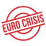 Euro Crisis rubber stamp. Grunge design with dust scratches. Effects can be easily removed for a clean, crisp look. Color is easily changed Royalty Free Stock Photo