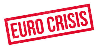 Euro Crisis rubber stamp. Grunge design with dust scratches. Effects can be easily removed for a clean, crisp look. Color is easily changed Stock Image