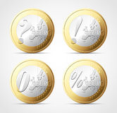 Euro crisis. Euro zone crisis - money concept Royalty Free Stock Images