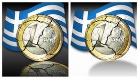 Euro crisissen Stock Afbeelding