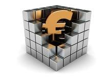 Euro in cube Stock Photos