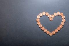 Euro cuore Immagine Stock