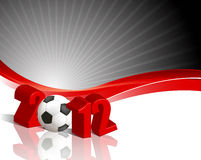 Euro Cup 2012. Royalty free stock image of 3D render of the 2012, in red, isolated on white copy space Stock Images