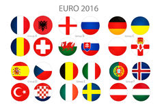 Euro cup groups Stock Image