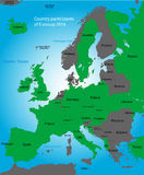 Euro cup map Royalty Free Stock Photography
