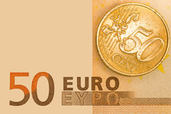 Euro curency. Euro currency background with blank area for tex Royalty Free Stock Images