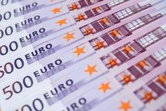 Euro currency. Horizontal image of Euro banknotes Stock Photo