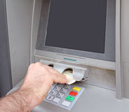 Euro currency atm Royalty Free Stock Image
