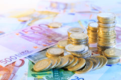 Euro currency background Royalty Free Stock Photos