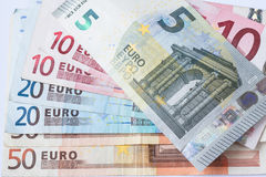 Euro currency banknote Stock Photo