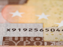 Euro currency banknote macro, european money closeup Royalty Free Stock Photo