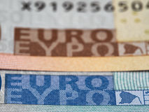 Euro currency banknote macro, european money closeup Royalty Free Stock Images