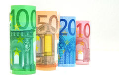 Euro Currency Banknotes Stock Photography