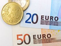 Euro currency banknotes Royalty Free Stock Images