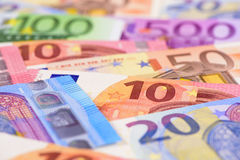 Euro currency and banknotes Royalty Free Stock Photo