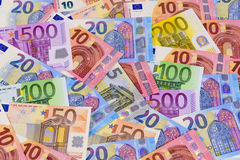Euro currency and banknotes Stock Image