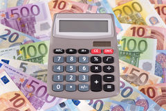 Euro currency and banknotes Stock Photos
