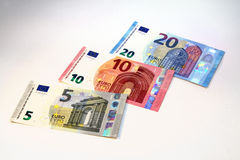 Euro currency banknotes new design Royalty Free Stock Photo