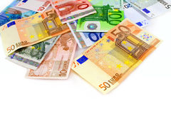 Euro currency banknotes Royalty Free Stock Image