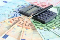 Euro Currency Calculation Royalty Free Stock Photo