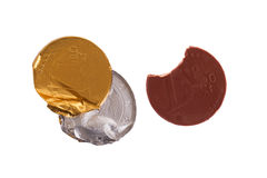 Euro currency, chocolate coins Royalty Free Stock Photo