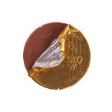 Euro currency, chocolate coins Stock Photos