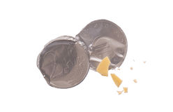 Euro currency, chocolate coins Royalty Free Stock Image