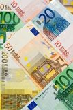 Euro currency collage royalty free stock image
