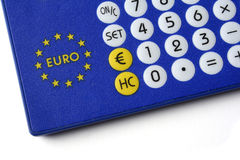 Euro-currency converter. Isolated Royalty Free Stock Photos