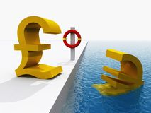 Euro currency crisis Stock Photo