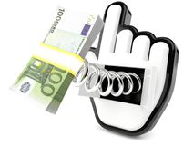 Euro currency with cursor Stock Photo
