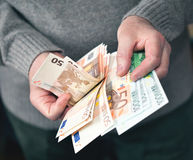 Euro currency from Europe Stock Image