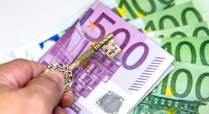 Euro currency, Europe money. With success key Stock Images