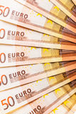 Euro currency fan detail Royalty Free Stock Photos