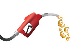 Euro currency gas pump illustration design Stock Photos