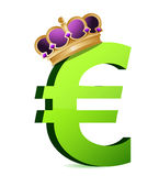 Euro currency gold crown Royalty Free Stock Photography