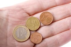 Euro Currency in Hand Stock Photo