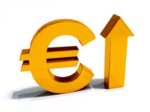 Euro Currency increase Stock Image