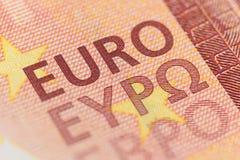 Euro currency macro shot Stock Photos