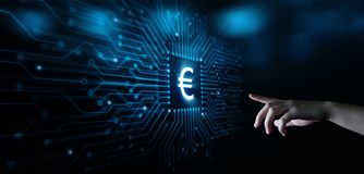 Euro Currency Money Symbol Icon Sign. Business Finance Concept.  royalty free stock photo