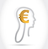 Euro currency on my mind illustration design Royalty Free Stock Photo