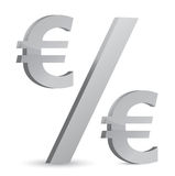 Euro currency percentage Royalty Free Stock Image